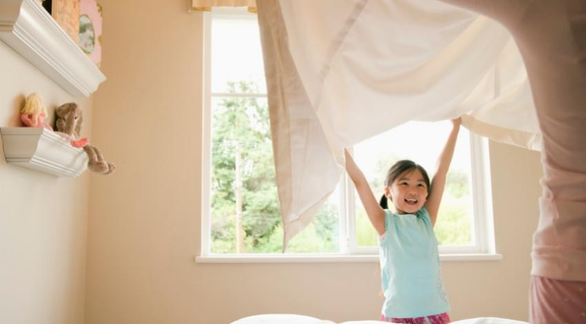 Organize kids' bedrooms